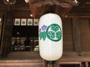 多田神社本殿提灯