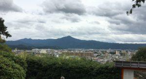 建勲神社境内からの景色