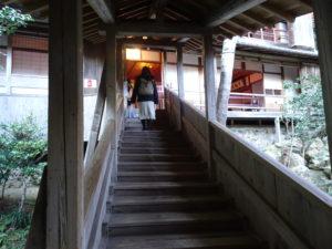 楊谷寺上書院へと続く階段