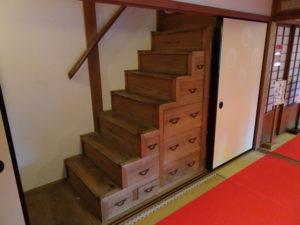 楊谷寺上書院箱階段