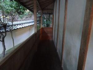 楊谷寺奥之院へと続く廊下