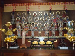 楊谷寺奥之院二十八部衆