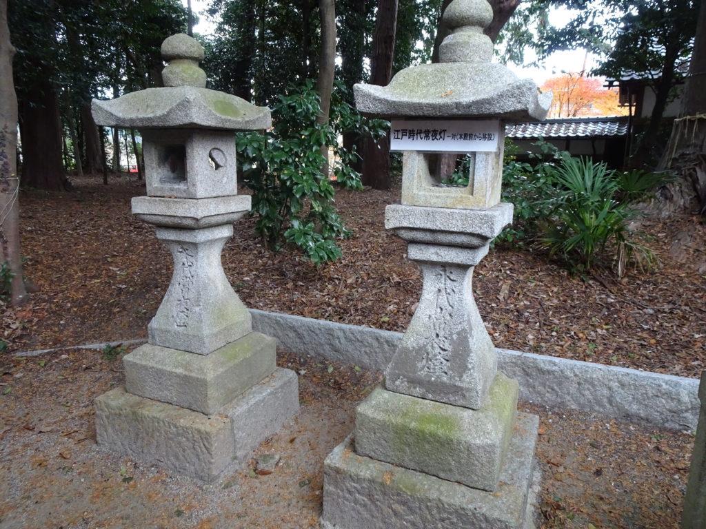 薭田野神社江戸時代常夜燈