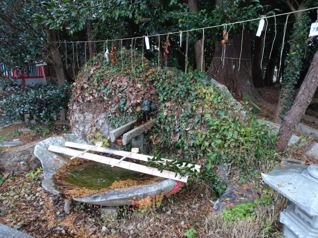薭田野神社長寿の滝