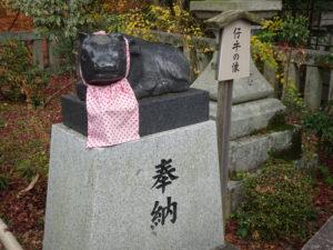 長岡天満宮牛の像3