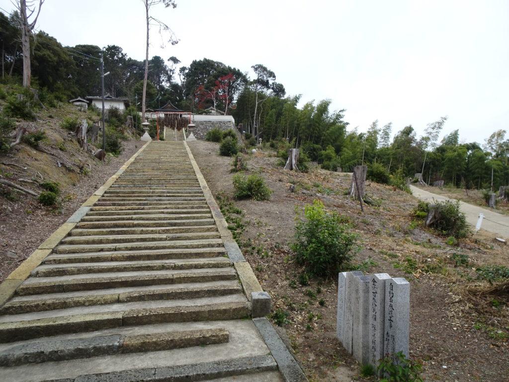 走田神社石階段1