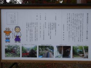 大原野神社台風被害看板