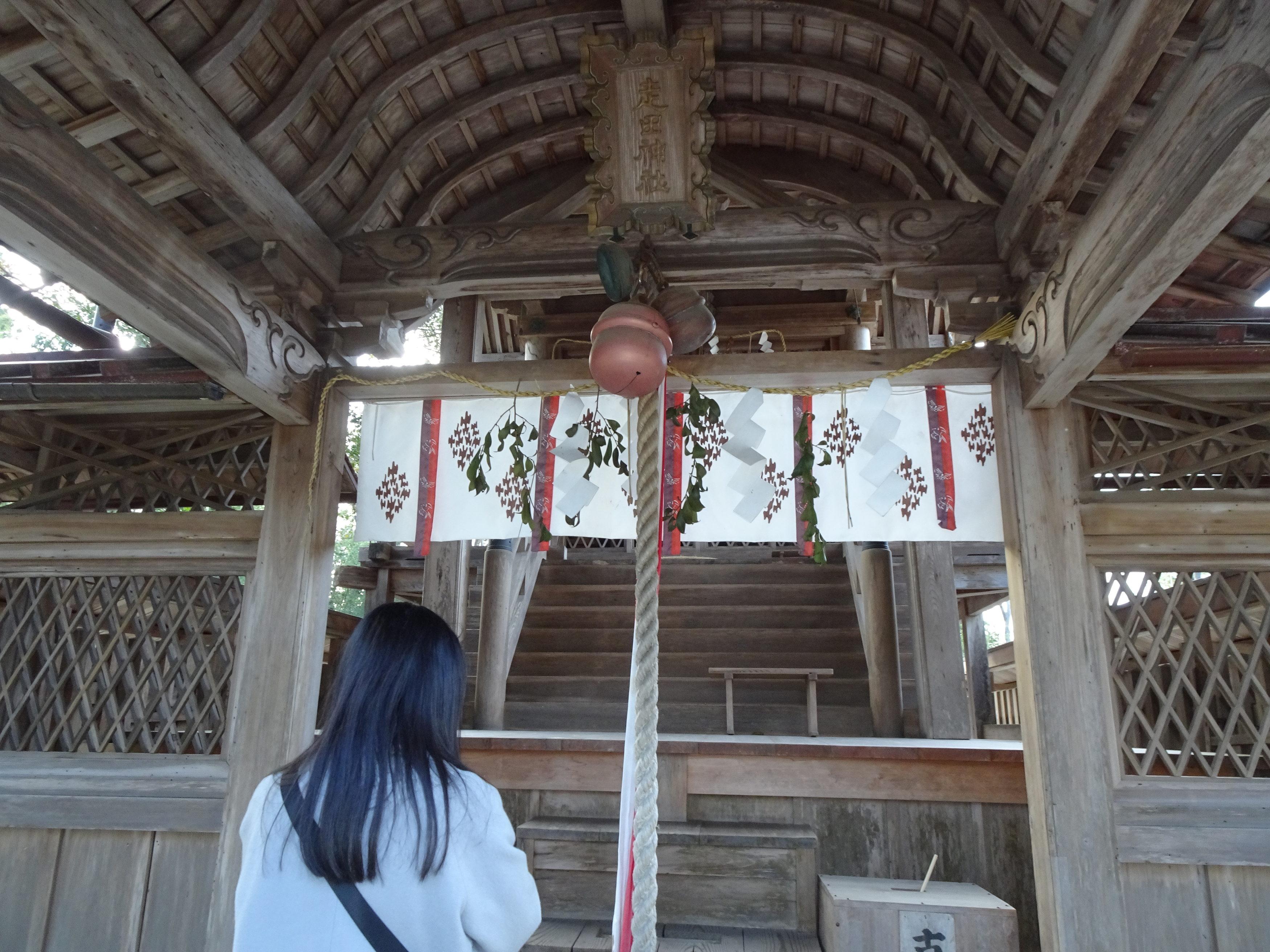 走田神社お参り