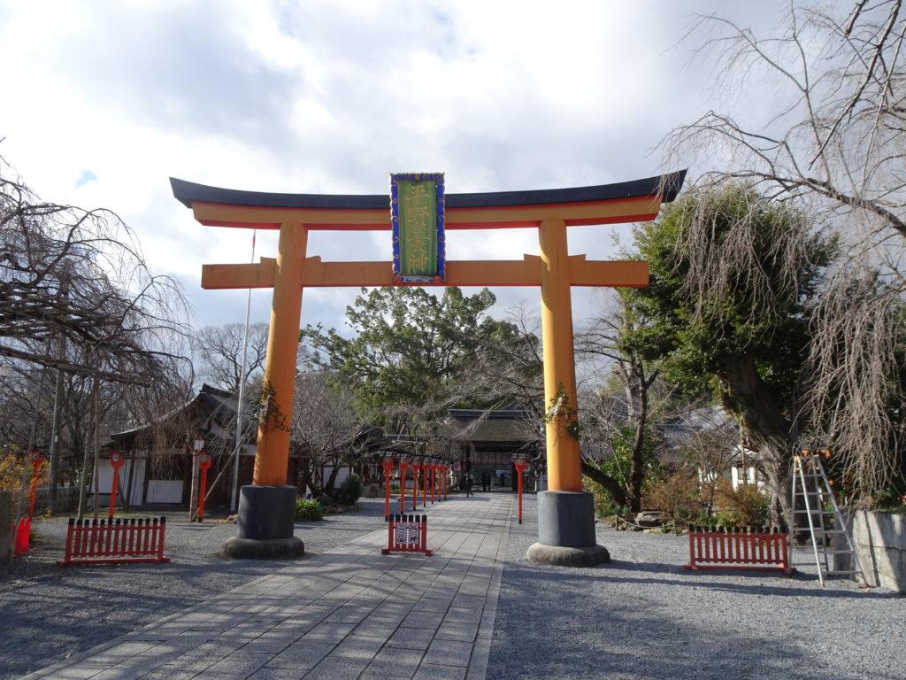 平野神社一の鳥居