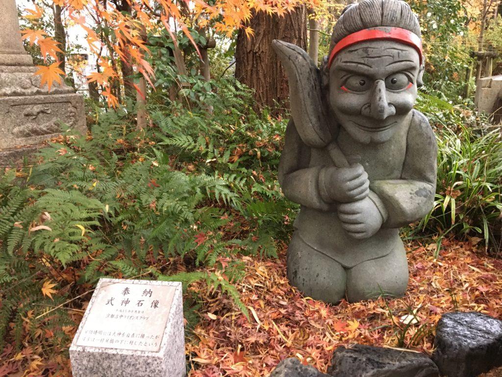 晴明神社式神銅像
