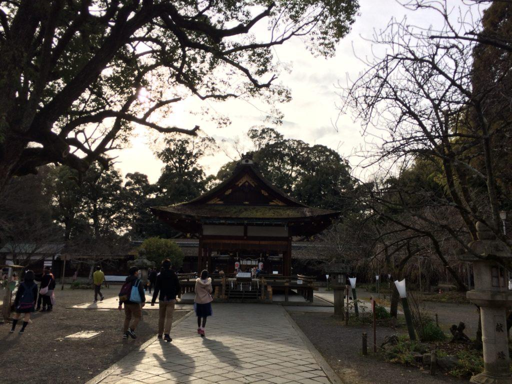 平野神社拝殿かつての姿