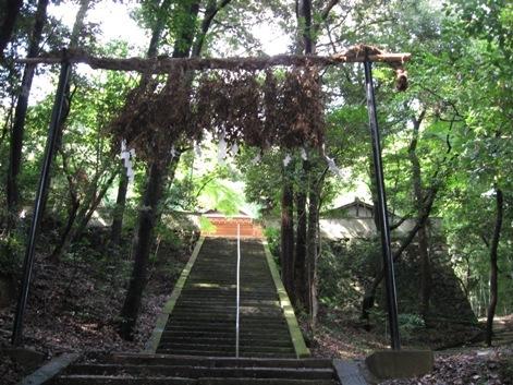 走田神社かつての景色