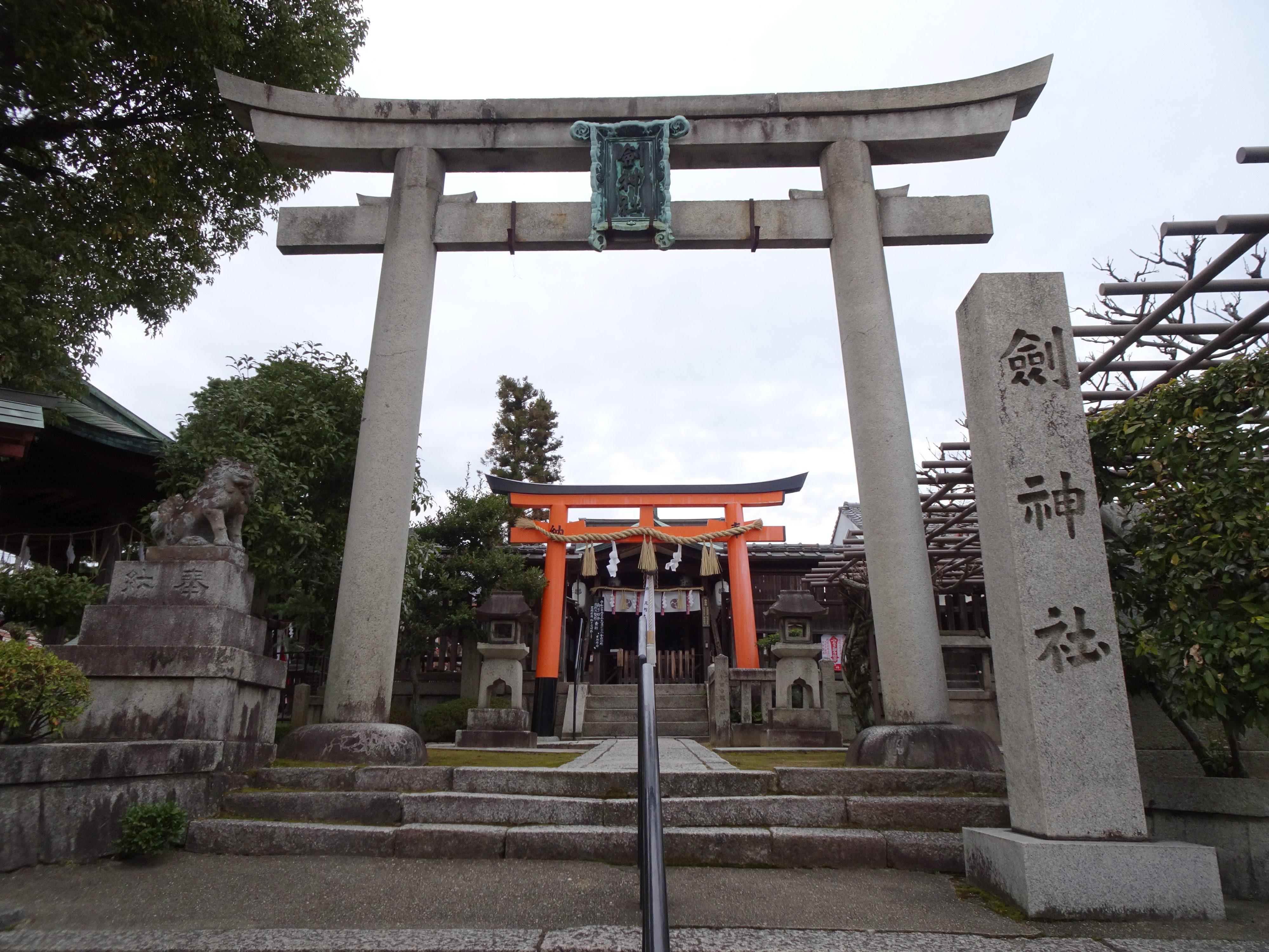 剣神社南鳥居1